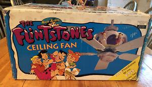 """MADISON AVENUE THE FLINTSTONES CEILING FAN 42"""" 1994 MODEL 04071 BRAND NEW NIB"""