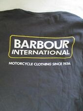 Barbour International authentic genuine black 18 spellout logo t-shirt Large