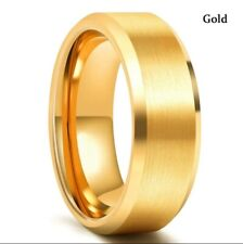Aniversry Party Jewelry Gift For Men Stainless Steel Fashion Ring Gold Wedding