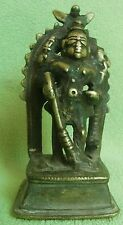 RARE HAND CARVED VINTAGE BRONZE STATUE OF INDIAN HINDU GODDESS KALI (DURGA) DEVI