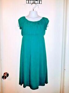 Emerald Green Midi Christmas Dress Girls Size 6