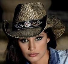 Bullhide Black Tennessee River Western Straw Hat 2794BL Medium a617056ae87