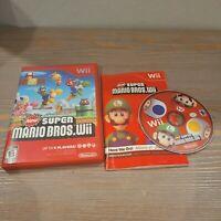 New Super Mario Bros. Wii (Nintendo Wii) CIB Complete 2009