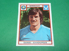JEANDUPEUX BORDEAUX GIRONDINS LESCURE RECUPERATION PANINI FOOTBALL 76 1975-1976