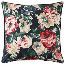 """New IKEA Cushion cover LEIKNY Floral Pillow Cover 20 x 20"""" Black Multicolor"""