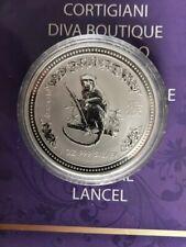 Australia $1 2004 Lunar I Year of the Monkey Silver 1 Oz Coin BU