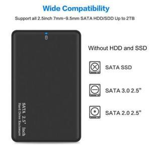 2TB USB 3.0 Portable External Hard Drive Ultra Slim SATA Storage Device Ca 5T4E