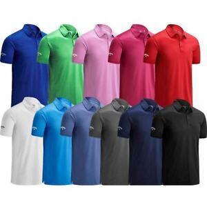 Callaway Golf Mens Swingtech Solid Stretch Golf Polo Shirt