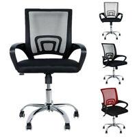 Adjustable Chair Office Ergonomic Mesh Swivel Computer Desk Task Rolling MidBack