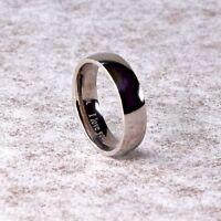 "6mm New Titanium Mens Ladies Unisex Wedding Engagement Band Ring ""I Love You"""