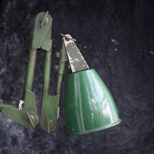 English Mechanics Green Industrial Lamp