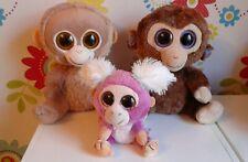 Ty Beanie Boo Boos Monkey Bundle TANGERINE COCONUT + Wild Republic Soft Toy Xmas