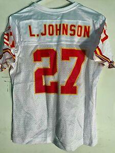 Reebok Women's NFL Jersey Kansas City Chiefs Larry Johnson White sz S