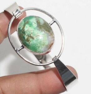 Chrysoprase 925 Silver Plated Adjustable Bangle Unique Jewelry GW