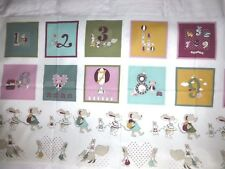 COUNT ON ME Fabric Cotton Craft Quilting Large Panel - Numbers KIDS Nursery Boys