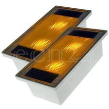 Solar Pflastersteine 2er-Set gelbe LED Pflasterstein Bodenstrahler Bodenleuchte