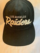 Vintage Sports Specialties Los Angeles Raiders Script Snapback Hat Cap  NWA