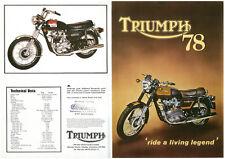 Sales brochure original Prospekt Triumph 1978 t140v tr7v Joli Cadeau