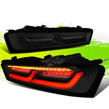 FOR 16-18 CHEVY CAMARO 3D LED BAR TAIL BRAKE LIGHTS W/SEQUENTIAL TURN SIGNAL 17