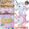 Unicorn Foil Balloons Laser Shining Children Birthday Party Festival Decorations