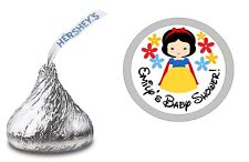 108 BABY SNOW WHITE CUSTOM HERSHEY KISS LABELS STICKERS SHOWER PARTY FAVORS