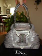 Limited Edition Gray Crocodile John Galliano 'Jeanne' handbag for Christian Dior