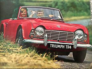 Triumph TR4 1961-65 UK Market Sales Brochure publication 338/963/UK, good cond