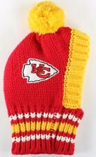 Kansas City Chiefs  NFL Official Pet Wear Knit Ski Hat for Dogs in Size Large