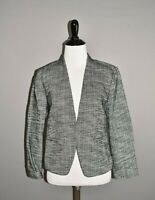 ANN TAYLOR LOFT NEW $98 Black White Tweed Open Jacket Size 2