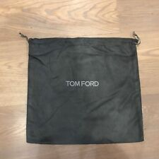 """Tom Ford Gray Faux Suede Protective Purse Bag Shoe Storage Dust Cover 12"""" X 11"""""""