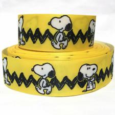 "Grosgrain Ribbon 5/8"", 7/8"", 1.5"" & 3"" Snoopy Dog Pet Puppy Printed"