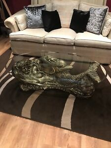 Large Coffee table mermaid with dolphin