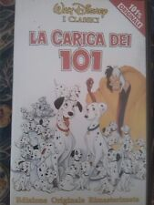 Videocassetta vhs i classici cartone la carica dei 101 disney