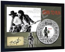 Bruce Springsteen Born to Run SIGNED FRAMED PHOTO CD Disc PRE-PRINT