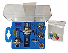 Universal Car Emergency Light Bulb 13pc Spare Fuse Replacement Kit H4 H7 H1 Set