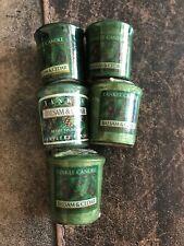 5 Pack Yankee Candle Balsam & Cedar Votive Samplers Holiday Green Christmas