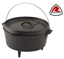 ROBENS CARSON DUTCH OVEN 3.5L Cast Iron Bushcraft Cooking Pot