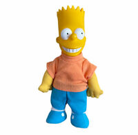 "Vintage 1990 Bart Simpson Plush Doll 9"" Vinyl Head  Toy Matt Groewing"