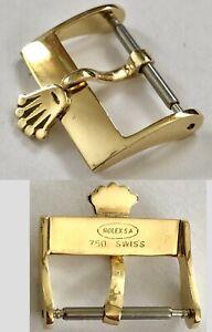 ROLEX 18k SOLID GOLD BUCKLE  16mm diameter Vintage authentic.