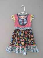 Matilda Jane Baby Girl Little Sweetie Dress Baking Cooking Teacups 18/24 Months