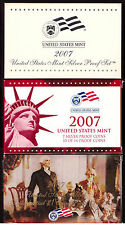 2007 SILVER PROOF SET  - Complete With Boxes, COA's and Presidential Dollars