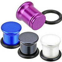 Pair Acrylic Solid Color Single Flare Ear Plugs Tunnels Earlets Gauges