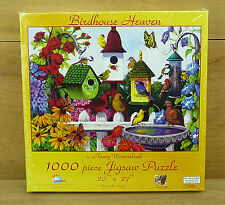 """SunsOut Jigsaw Puzzle 1000 piece Birdhouse Heaven 20"""" x 27"""" Made in the USA"""