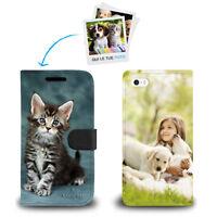 Custodia Flip Cover Portafoglio Pelle Personalizzata Foto Per Apple iPhone SE