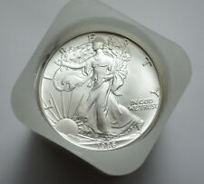 1986 American Silver Eagle Dollar 1 oz .999 Fine Silver Original Roll of 20 ,UNC
