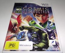 Ben 10 Cosmic Destruction Nintendo Wii PAL *Complete* Wii U Compatible