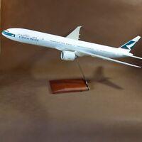Huge 1/100 CX Cathay Pacific Airways Boeing B777-300ER Airplane Desktop Model