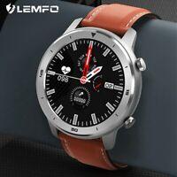 LEMFO IP68 Smart Watch Waterproof Men Full Round Touch Heart Rate Blood Pressure