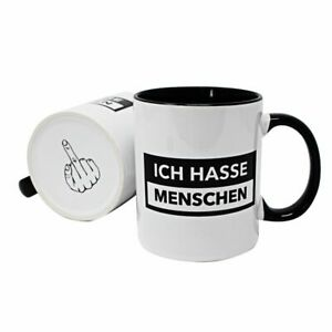 Ich hasse Menschen Tasse Kaffeetasse Sprüchetasse Fun Arbeit Büro Lustig Spruch