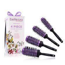 Bellezza Blush Pink Hair Brush Set Ceramic Round Brush Bundle